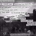 Next show: @B_Labyrinth Friday 5th November, with The Dead Sets, @Shatterhandpunk and Black Volvo. #Edinburgh #punk http://t.co/kQjgij96KC