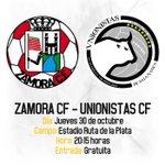 Unionistas jugará un amistoso contra el ZamoraCF (@ZCFoficial) en el Estadio Ruta de la Plata: http://t.co/g0fqiKuS0W http://t.co/QGM4fYXdzf