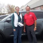 Brian is with Susan Wright who is absolutely thrilled to be the owner of a new Sportage Congratulations! #ptbo #kia http://t.co/7g4Ee4nvVG