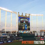 Another perfect night for baseball at #TheK #WorldSeries http://t.co/ogkFl58nZM