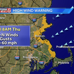 HIGH WIND WARNING now in effect along the coast...some power outages #wcvb http://t.co/bmrjC4015v
