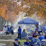 Fans enjoyed the weather in the parking lot while tailgating before game two of #Royals vs #SFGiants #WorldSeries http://t.co/p9hJdqiosN