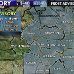 RT @ChrisJohnsonWX: Chilly evening ahead with a COLD night expected. Frost Advisory out for the entire WNKY viewing area. #kywx http://t.co/u3Gybis5yI