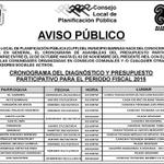 Este es el Cronograma para la discusión del #PresupuestoParticipativo2015 del Municipio #Barinas http://t.co/SPf22v6PcZ