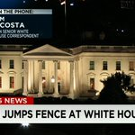 RT @AC360: Breaking News: White House fence jumper stopped by #SecretService dog and needs hospitalization - @acosta reporting http://t.co/w3IW7pjEcY