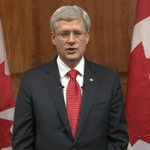 LIVE NOW: Prime Minister Stephen Harper addresses nation: http://t.co/WQijSmdVBj #cbc http://t.co/09xWJszOq7