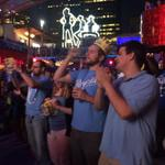 #Royals fans at @KCPLDistrict. @HaleyKMBC will have live reports from the party at 9 & 10 http://t.co/vRzJCrxQ4n http://t.co/02MFPW9UcZ