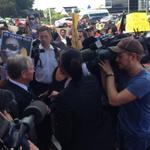 Premier surrounded by protesters. Told crowd his personal task to reduce aboriginal deaths in custody @TenNewsPerth http://t.co/CjID6dZpiS