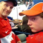 Rockin our Team Canada jerseys tonight, at the #Oilers game. #CanadaStrong http://t.co/UvWm6phoC0