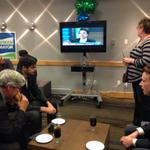 Brian Bowman supporters watching election coverage on @ctvwinnipeg http://t.co/VCF5eBJSNX