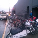 Even on this rainy day, 100s bicyclists at the #Westlake PBL Open House! #SEAbikes http://t.co/mLL5G39Vzp