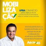 ALÔ JUVENTUDE! Mobilização UFBA com Aécio nesta quinta (23), às 11h, no campus de Ondina #VamosAgir #BahiaComAecio http://t.co/8WyRmSoA9d