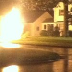 RT @melissawarner: BREAKING: Heres a pic from the scene of a gas main fire in #Wethersfield. Multiple streets shut down, @WTNH at scene http://t.co/YXSrVJJ5lz