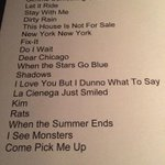 RT @TheOtherLeslie: .@TheRyanAdams @acltv set list 2 of 2. Full electric band. #acltv40 http://t.co/VuoJuV2u3H