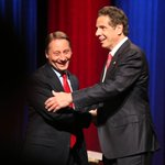 Rob Astorino and Gov. Andrew Cuomo shake hands following the debate #nysgovdebate http://t.co/4gIW4HrSXK