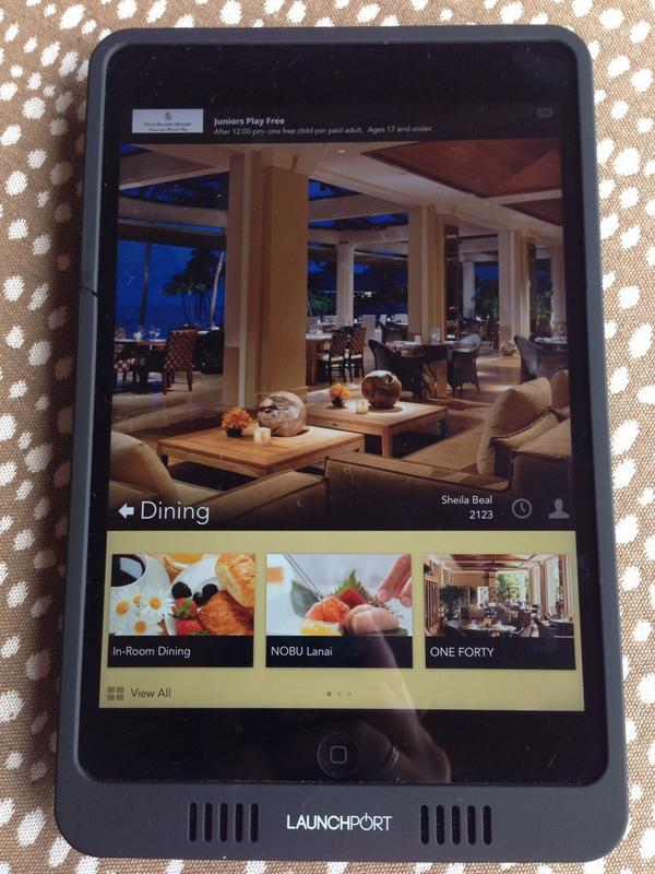 These in-room iPads @ @FSLanai are great for looking up activities, dinner reservations, housekeeping requests & more http://t.co/ntUjTvotFY