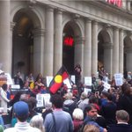Biggest rally against aboriginal deaths in costody in Melb in recent times: #auspol http://t.co/Hd3cnNa7wB