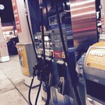Buying gas with Apple Pay.