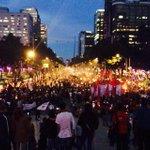 """RT: """"@RHashtag: El Zócalo de la Ciudad de México se enciende en protesta:Una luz por Ayotzinapa #43ConVidaYa http://t.co/g1dhnujImy"""""""