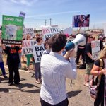 Protesters gather at Pt Adelaide, rallying against live animal exports @TenNewsADEL http://t.co/IqGaNKExls