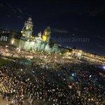 """""""@doncaiman: Acaba la marcha del D.F por los estudiantes desaparecidos de #Ayotzinapa. Zócalo 21:37 @LoQueSigue_ http://t.co/gwOIoeJ9xb"""""""