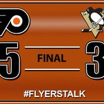 RT @CSNPhilly: Its over in Pittsburgh! #Flyers further their dominance in the Steel City with a 5-3 win over the #Penguins: http://t.co/KDUq6neVl0