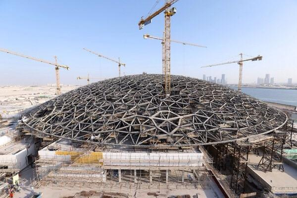 The dome of the Louvre Abu Dhabi by Jean Nouvel was put in place last Tuesday!  #abudhabi  #nouvel #architecture http://t.co/17paXHfaSt