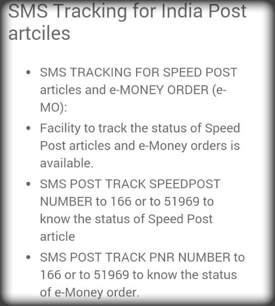 உங்களது தபால்/பார்சல்/மணிஆர்டர் நிலையை  SMS மூலம் இலவசமாக track செய்து கொல்லலாம்  #indiapost http://t.co/5j3yK7TiVS