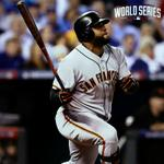 Pablo Sandoval leads off the 8th for the #SFGiants #WorldSeries #OctoberTogether http://t.co/BfHdT1baLt
