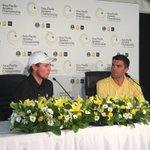 Leader Todd Sinnott chats to the media following his five under par round. #AsiaPacificAm #Melbourne #Australia http://t.co/qu9Y36BgLV