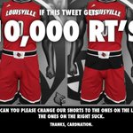 Hey Adidas, if this tweet gets 10,000 RTs @adidasHoops will you please fix UofLs bball shorts? #L1C4 http://t.co/WTRTnYPbco