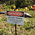Suncoast council just erected these signs at Wurtulla Beach @abcsunshine @abcnews #ocean http://t.co/hkRbwfIoDC