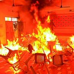 RT @RohitBJP: KCRs style of celebrating Deepawali. His cadres set TDP office on fire this way even when people were inside. http://t.co/TtJ7LUUANA