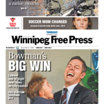 Bowmans big win on Thursdays front page of @WinnipegNews #wpg14 http://t.co/vgXHUajylN