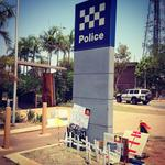Crosses laid at South #Hedland police where Ms Dhu was held to protest deaths in custody http://t.co/gZOa2zPe4K