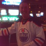 Bday boy Kendall Stoller wins an #Oilers jersey & qualifies for a trip to the #NHL Awards! @TheCDNBrewhouse #RedDeer http://t.co/eCiWc62UWD