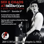We are proudly hosting the Punk Rock Museum SEX&CHAOS Show beginning Oct 31st ! #punk #art #losangeles http://t.co/a68Z2bif0k