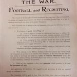 Found this #WW1 poster from the Lancashire FA dated September 1914 at the Lancs Record Office http://t.co/WoAmKMa8Dy