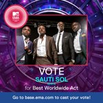 RT @MTVbaseAfrica: Congrats to @SautiSol for winning the #MTVEMA Best African Act! Now they face the world - vote http://t.co/xSgpGVUA32 http://t.co/H3wax0sjVd