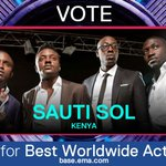 Congrats to @SautiSol for winning the #MTVEMA Best African Act!Now they face the world! VOTE http://t.co/05W8mlwQ1n http://t.co/RXr2g805YG