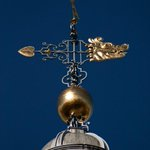 #Birmingham UK, the weathervane atop St. Philips Cathedral. #photos #WhatsBirminghamLike @bhamcathedral @BrumIsBrill http://t.co/6lH85tukgF