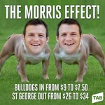 RT @tabcomau: THE MORRIS EFFECT! http://t.co/Px9nzASOUf #NRL #BULLDOGS #STGEORGE http://t.co/ppKoB0Msb1