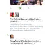 Chuffed @RollingStones favourited my embarrassing tweet. Sounding good guys!! More @7NewsAdelaide http://t.co/6WxM9Xo2Vu