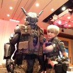 これからレッドカーペット! #TIFFJP #東京国際映画祭 with アップルシード アルファ @APPLESEED_ALPHA 岸明日香 @asupons02 http://t.co/8Vvg98NftR