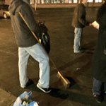 RT @KWRose: Some #Ferguson protestors out at 2AM picking up trash. Would never make mainstream news... http://t.co/7UA1Boxfwl