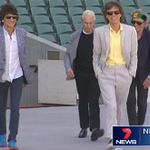 The @RollingStones make an appearance at @TheAdelaideOval. @AndreaLNicolas reports on #7NewsAdel at 6PM http://t.co/cp2kJJF1e6