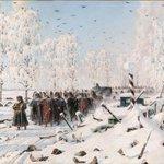 """""""Winter is coming"""" (c) // В.Верещагин """"На большой дороге. Отступление, бегство…"""", 1887-1895. #winteriscoming #снег http://t.co/cJBLvjCHW2"""