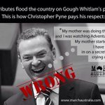 NASTY, even on the day of his death - what Pyne said about Gough Whitlam in Parliament. #AusPol via @MarchAustralia http://t.co/HS2DbYbe4p