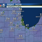 Warm coat required again this morning as you head out. Most inland locations in the 30s, but 43º downtown #Chicago. http://t.co/3I2PQADImp