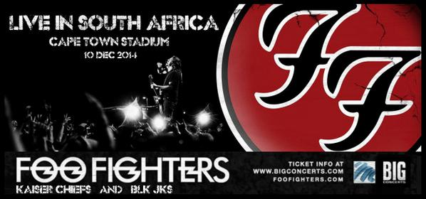 WIN tickets to catch @foofighters live in Cape Town this December. Details here: http://t.co/5z6Bq22PSY http://t.co/IKGeW5sLe6